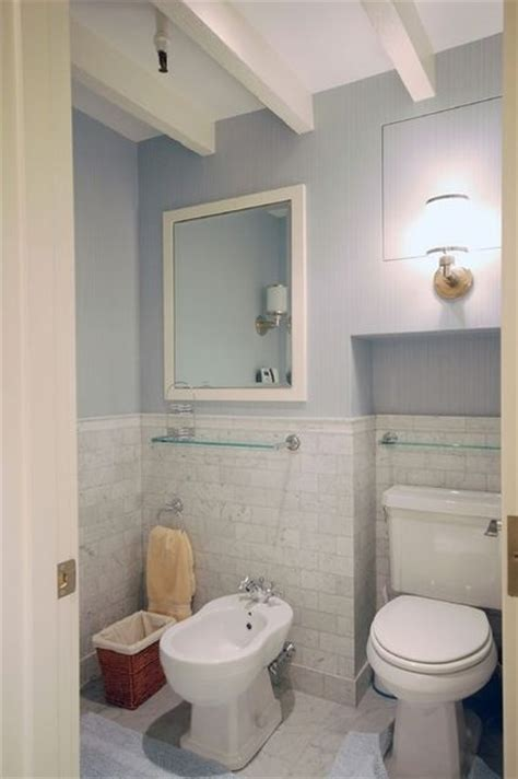 how high should wainscoting be in a bathroom bathroom subway tile wainscoting home decor pinterest