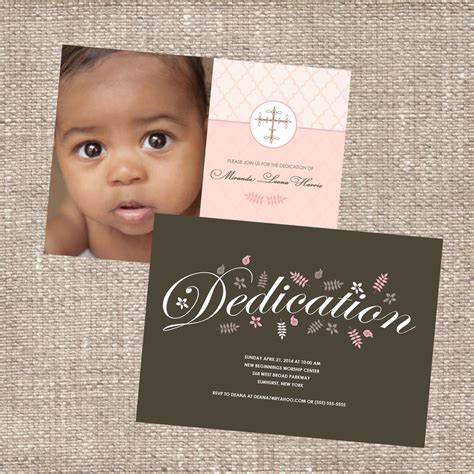 Dedication Invitation Card Template by Template Baby Dedication Invitations