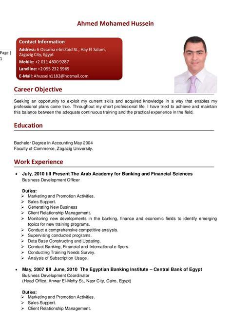 Cv Englisch Language Skills Ahmed Hussein Cv