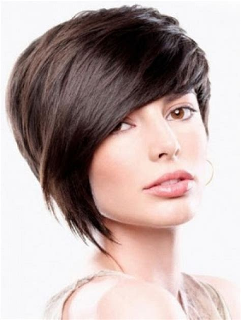shorter hairstyles with side bangs and an angle simple short hairstyles with bangs for women