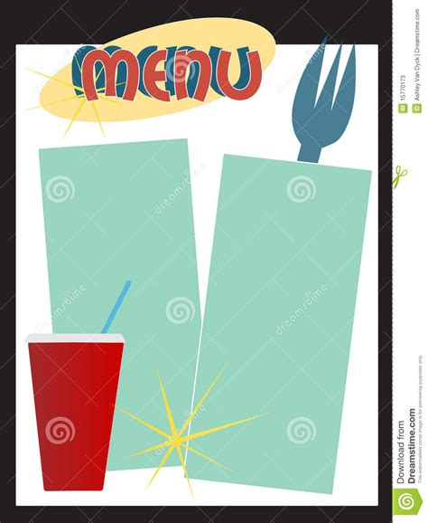 Retro Diner Menu Stock Vector Illustration Of Dining 15770173 50s Diner Menu Templates Free