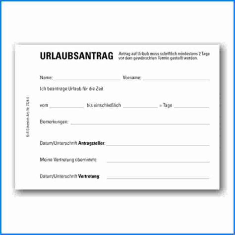 6 vorlage urlaubsantrag invitation templated
