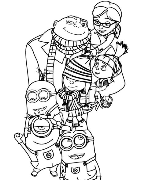 despicable me 2 coloring pages despicable me 2 family coloring page kaylin