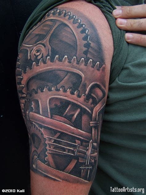 gear sleeve tattoo steunk gears and cogs tattoos related pictures gear