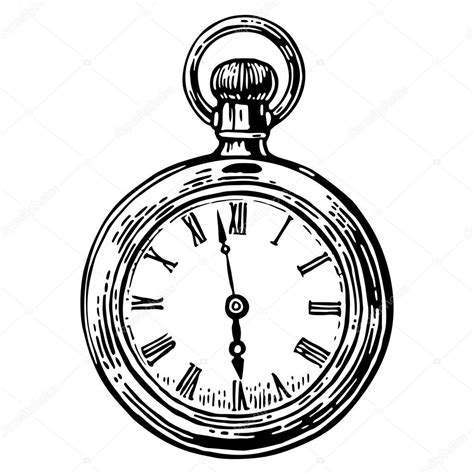 antique pocket watch drawing www pixshark com images