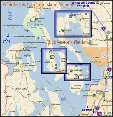 whidbey island map maps washington wine region puget sound wineries whidbey island