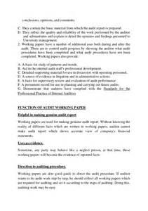 internal audit work paper template bing images