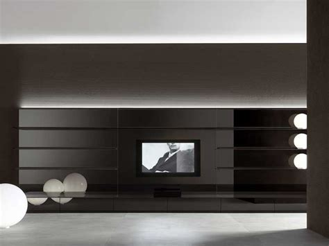 Tv Wand Schwarz by Completely White And Black Living Room Wall Panels