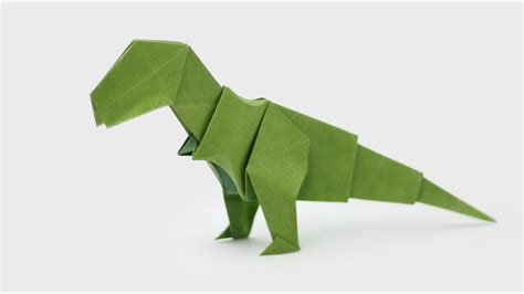 How To Make At Rex Out Of Paper - origami t rex jo nakashima dinosaur 5