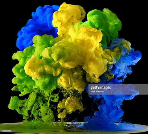 brazil colors brazil flag colours in paint ink water stock photo getty