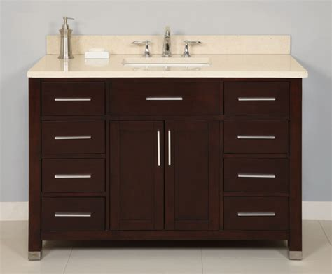sink 48 inch bathroom vanity 48 inch single sink modern cherry bathroom vanity