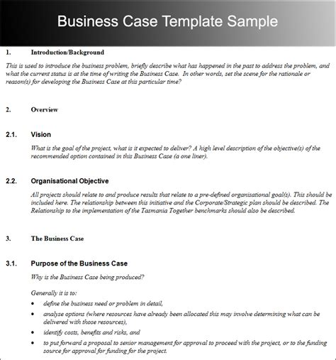 writing business cases template 7 best quality