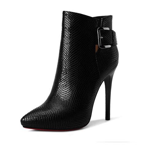 ankle high heels black ankle heeled boots yu boots