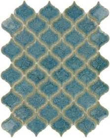 arabesque blue porcelain arabesque tile glossy la 15