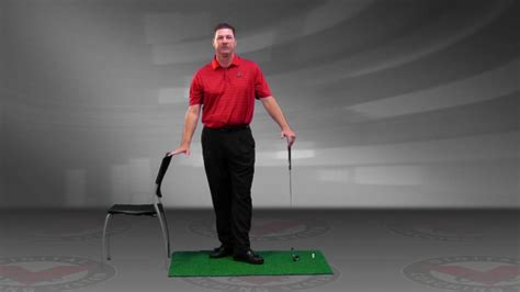 golf swing spine angle drill mike richards spine angle chair drill youtube