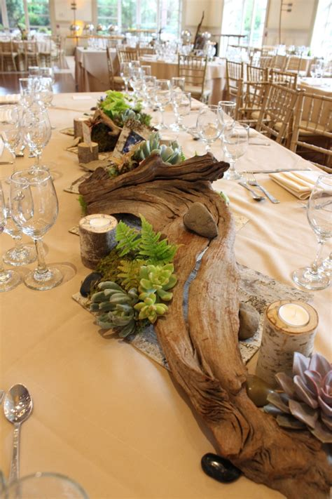 succulent wedding decor   stone house  stirling