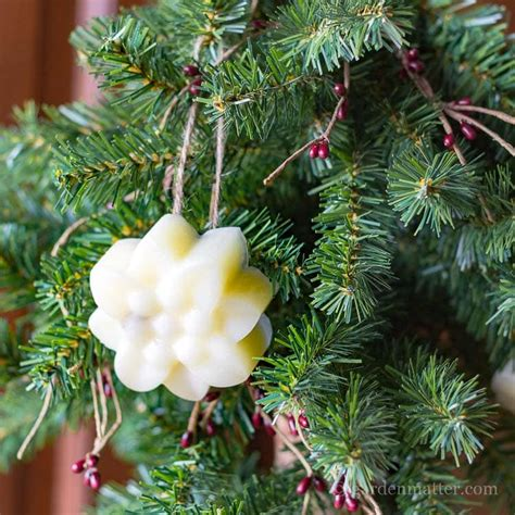 chrustmas tree smells musty scented beeswax ornaments to brighten your tree