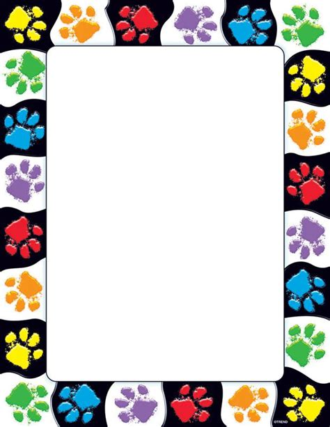 Paw Print Page Border Clip by Paw Print Clip Border Border Clipart 11 Clip