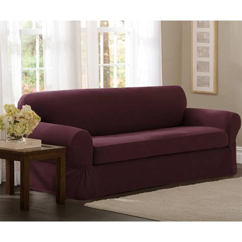 maytex smart cover stretch suede 2 pc sofa slipcover 2 piece sofa covers cheap www energywarden net