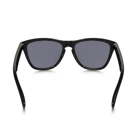 grey tint oakley mens frogskins sunglasses polished black with