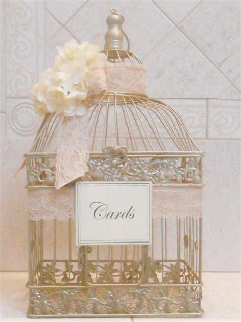 large birdcage wedding card holder chagne gold