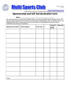 sponsored run form template sponsored walk form template