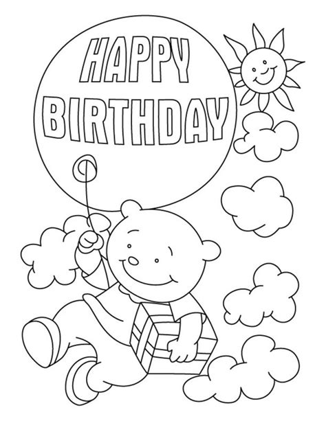 june birthday coloring pages coloring pages birthday pictures to color printable