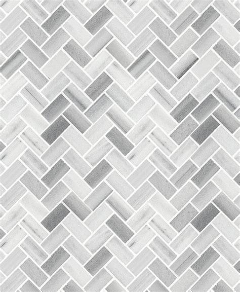 Small Tiles For Kitchen Backsplash white gray herringbone mosaic kitchen backsplash