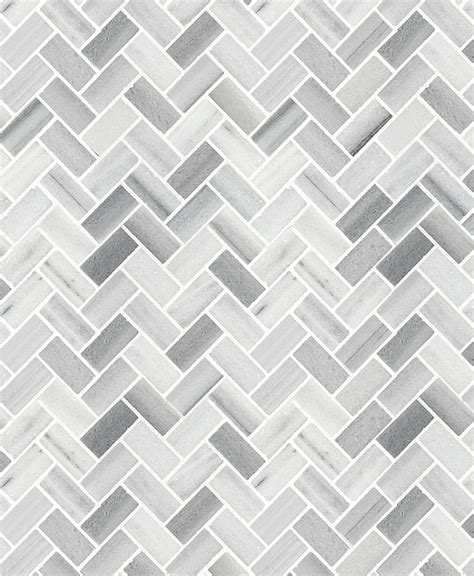 White Gray Herringbone Mosaic Kitchen Backsplash Backsplash.com