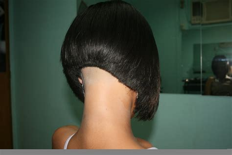 www ponytail with high nape shave haircut com lady nape