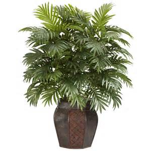 silk plants 38 inch areca palm in vase 6651 nearly natural