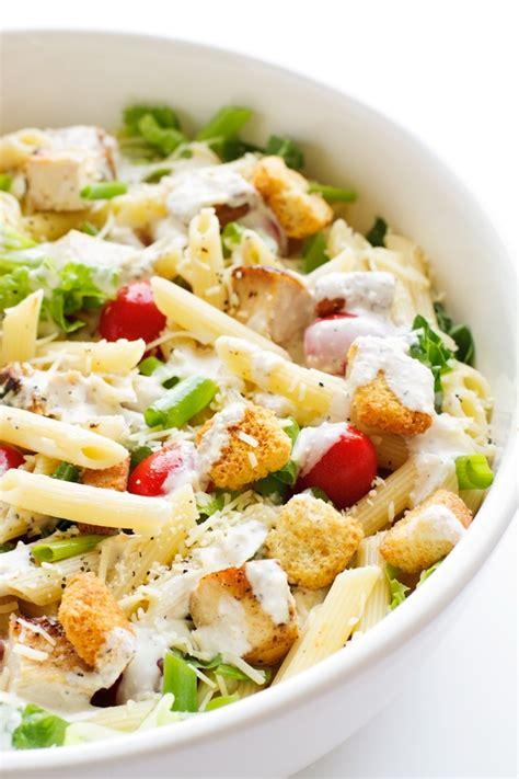 the best creamy chicken pasta salad creamy chicken caesar pasta salad recipe little spice jar