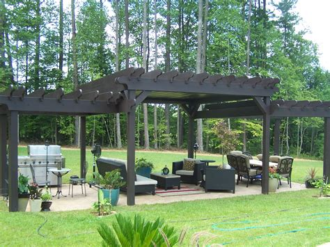 3 Tiered Pergola With Tin Roof Sexton Property Services Pergola With Roof