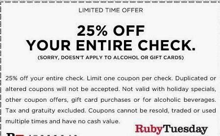 Printable Coupon For Bed Bath And Beyond Ruby Tuesday Printable Coupons March 2015