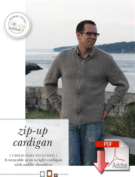 knitting pattern zippered cardigan knitbot zip up cardigan pattern download knitting