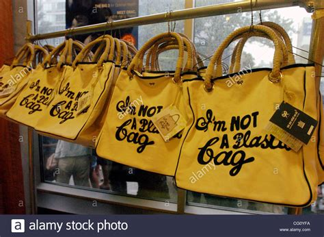 The New Im Not A Plastic Bag Says Plastic Aint My Bag by A Rack Of Quot I M Not A Plastic Bag Quot Totes Thousands Line Up