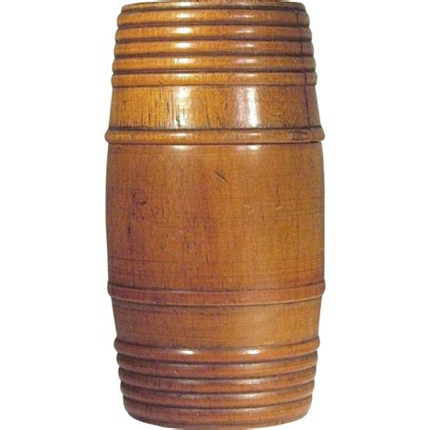 Turned Wood L by Individual Size 1930 S Tobacco Humidor Barrel Wood Turned