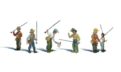 Painting N Scale Figures by Fly Fishermen N Scale N Scale Woodland Scenics