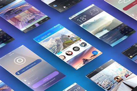 themes store com free perspective screens app presentation mockup