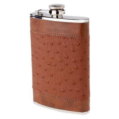 Wine Rack Flask by Flask 8 Oz Brown Ostrich