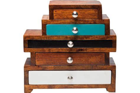 mini commode bois mini commode multicolore en bois silvana buffet pas cher
