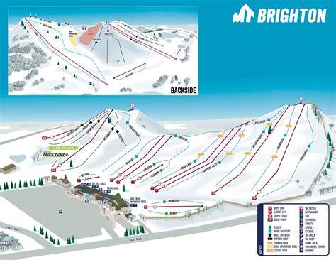 brighton trail map mt brighton trail map