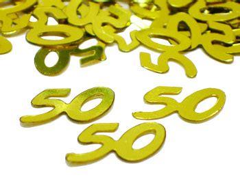 gold 50 table confetti gold number 50 confetti metallic gold 50th confetti by