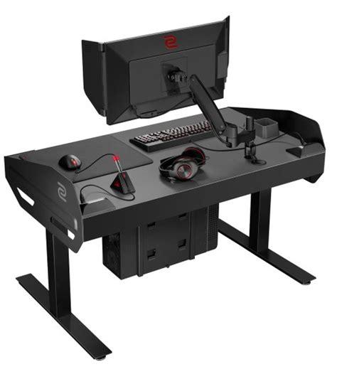 gaming tisch zowie esport tisch mit anschl 252 ssen f 252 r gaming gear