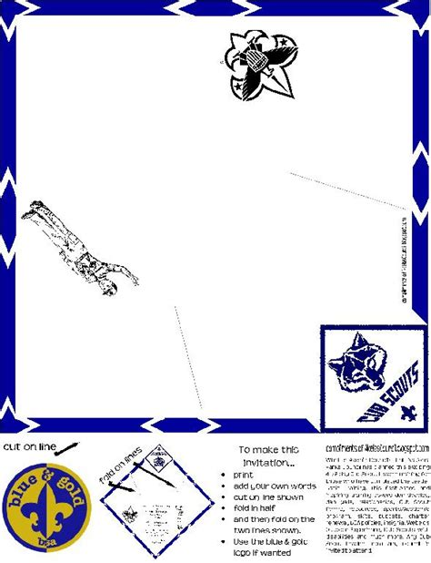 cub scout blue and gold program template 1000 images about scouts blue gold on