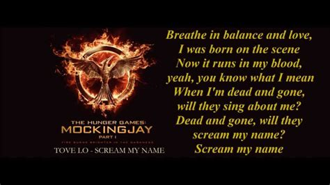 tove lo scream my name the hunger games mockingjay