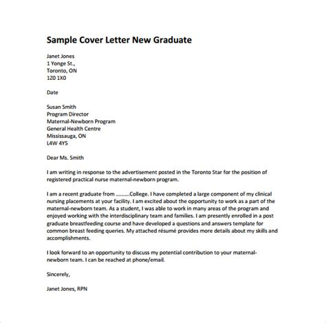 exle cover letter for nursing how to write a cover letter for graduate position
