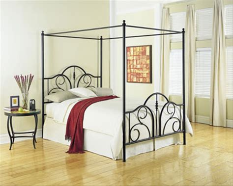 Metal Canopy Bed Frame Stylish Metal Canopy Bed Frame Modern Wall Sconces And Bed Ideas