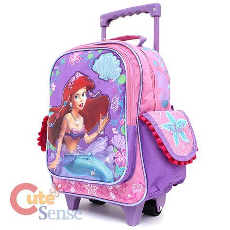 Import Tas Backpack Mermaid Size M princess mermaid ariel school roller backpack 12 quot medium trolley bag ebay