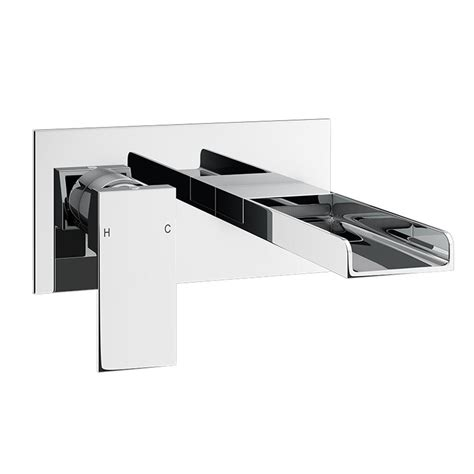 wall mounted bath filler and shower plaza waterfall wall mounted bath filler